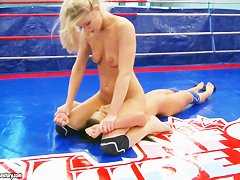 Nude fight club presents Meane vs Ally.