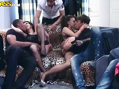 Hot orgy featuring sexy Maddie